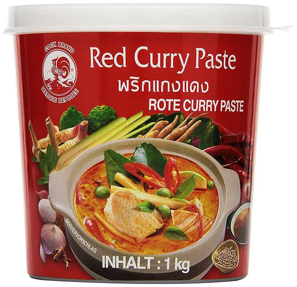 Cock Currypaste, red (Red Curry) - Zutaten
