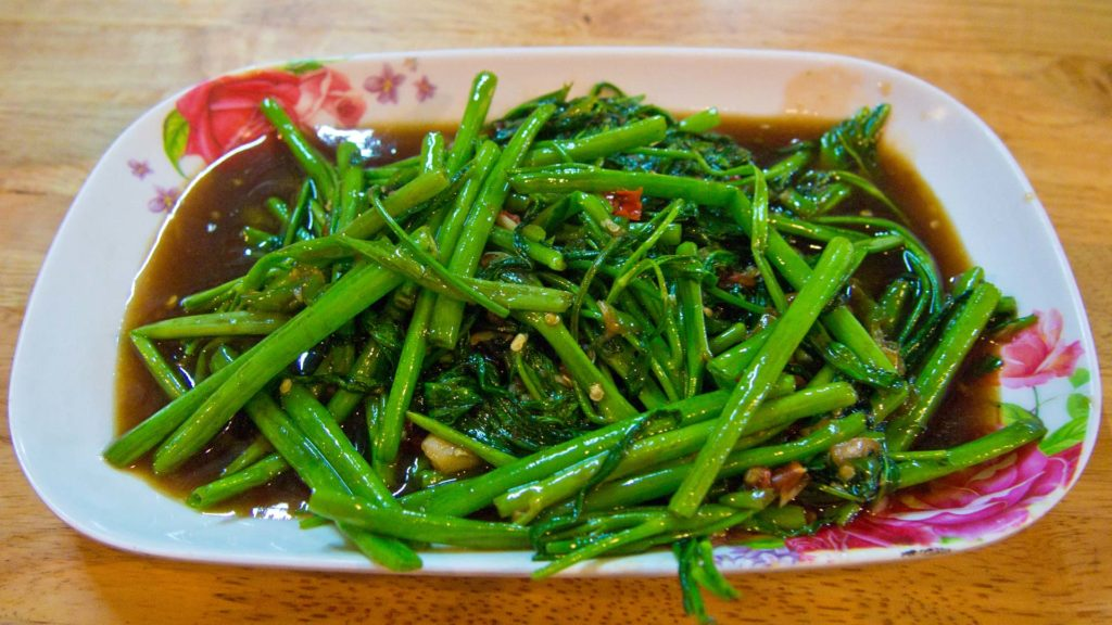 Pad Pak Bung (Fried Morning Glory)