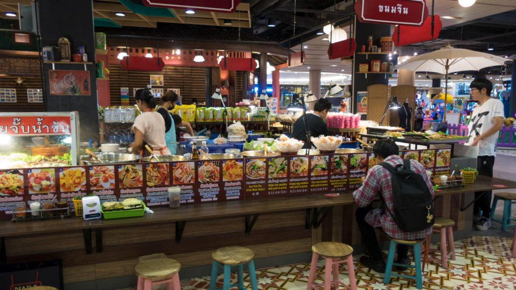 Food Court im Maya Lifestyle Shopping Center in Chiang Mai