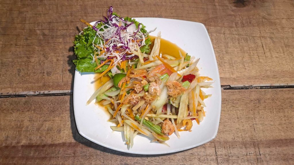 Som Tam Thai, die berühmteste Version des Papaya Salates