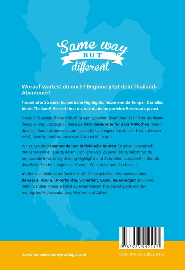 "Thailand-Routenguide ""Same Way But Different"" Cover"