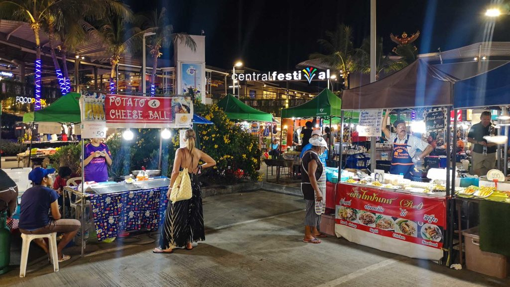 Markt am Central Festival in Chaweng, Koh Samui